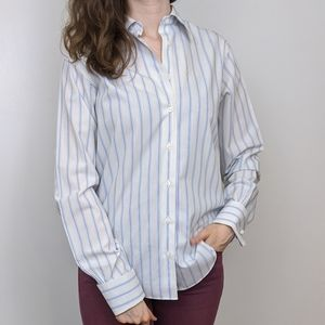Brooks Brothers Stripes Blue and White Button Down